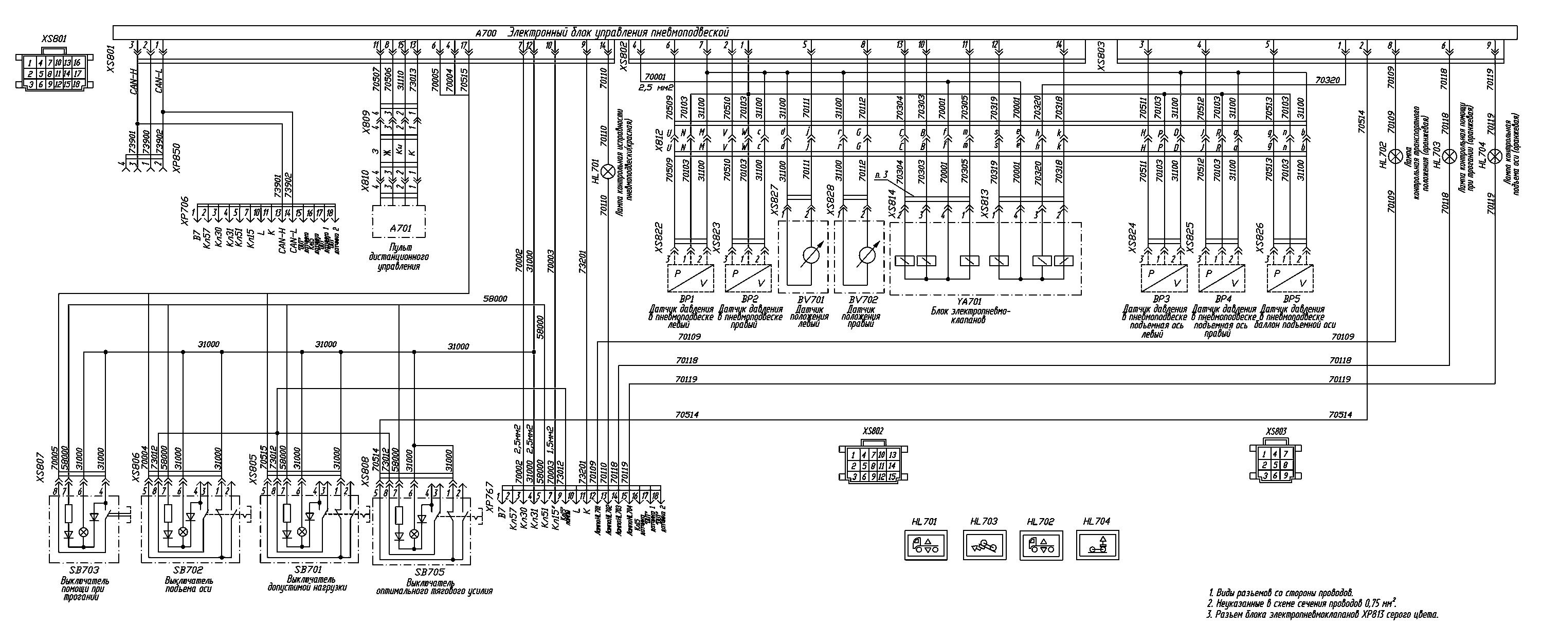 схема предохранителей маз 251