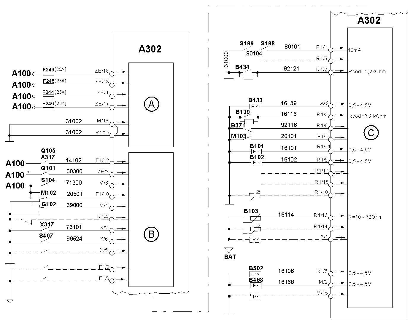 схема блока предохранителей скания