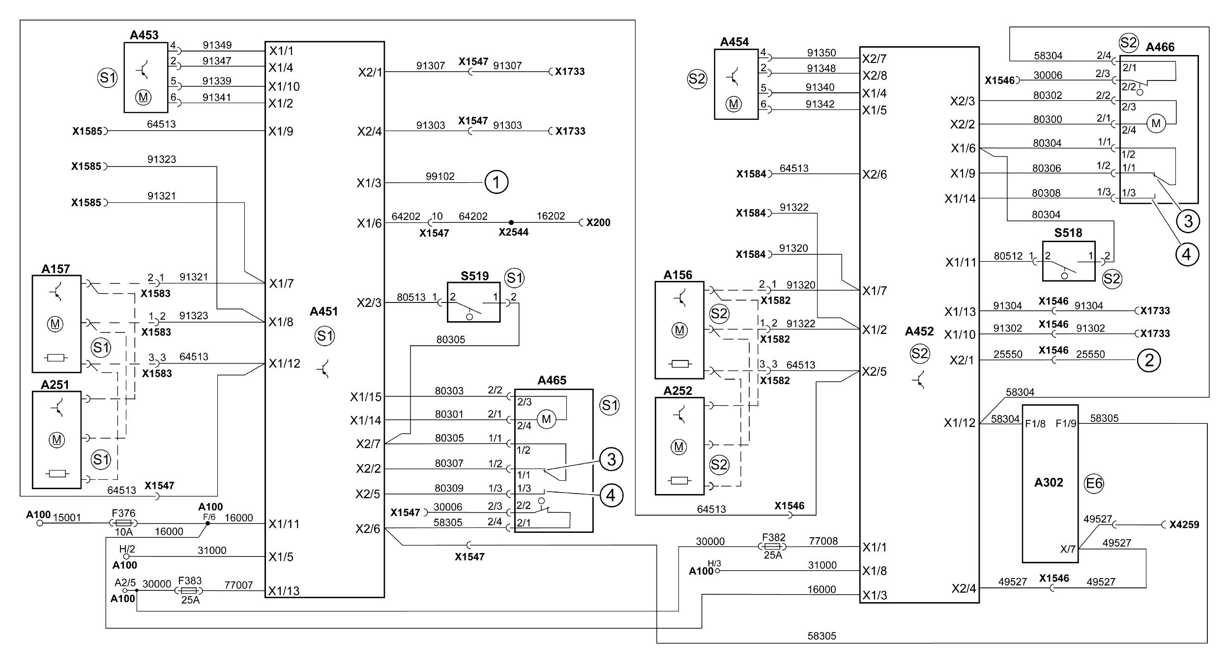 схема электрики и предохранителей ман тга