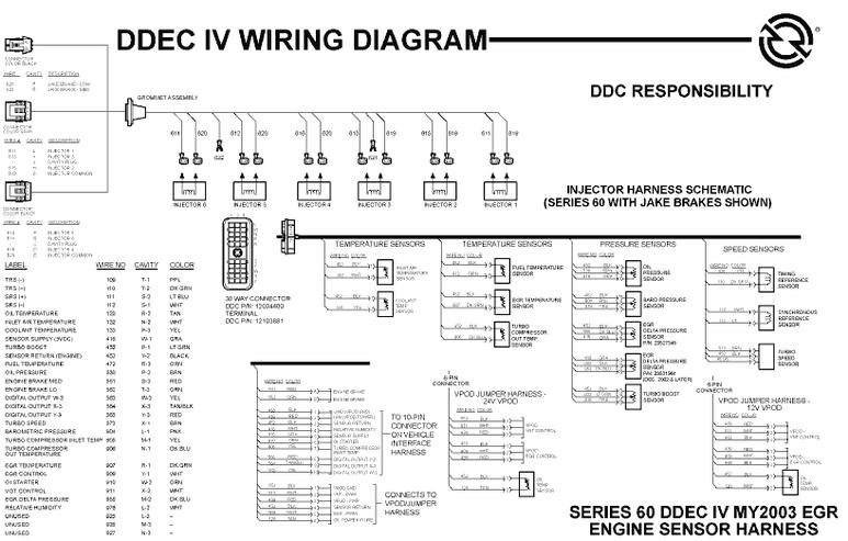 Detroit Series 60 Wiring Schematic. . Wiring Diagram on