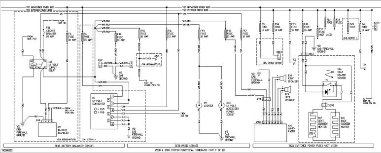 John Deere 250d And 300d. A9 Battery Balancer Sn 609166. John Deere. Air Conditioning Wiring Diagrams John Deere 9560 At Scoala.co