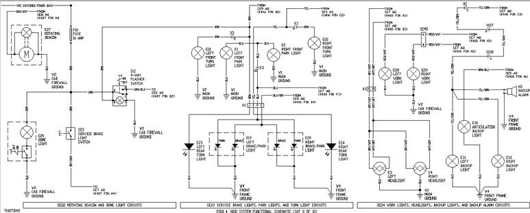John Deere 250d And 300d. E1 Left Front Park Light. John Deere. Air Conditioning Wiring Diagrams John Deere 9560 At Scoala.co